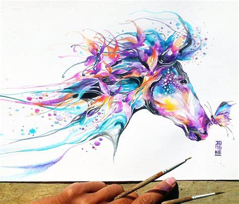 watercolor tattoo artist jakarta horse watercolor by jongkie art artwork pinterest