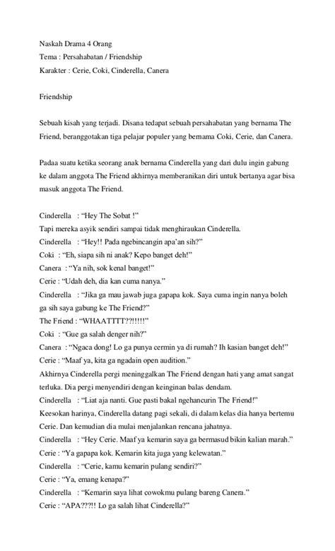 contoh naskah drama persahabatan 5 orang naskah drama 4 orang persahabatan