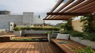 Balcony Design Ideas by Roof Garden Design Ideas With Wood Roof Garden Design