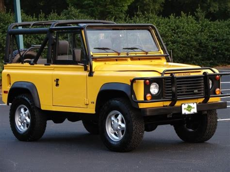 land rover defender 90 yellow dream garage land rover defender 90 nose prints on the