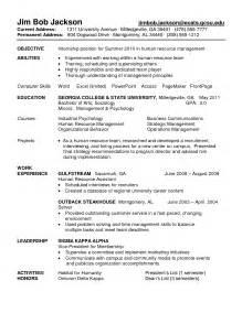 best resume format for internship mba internship resume sle gallery creawizard