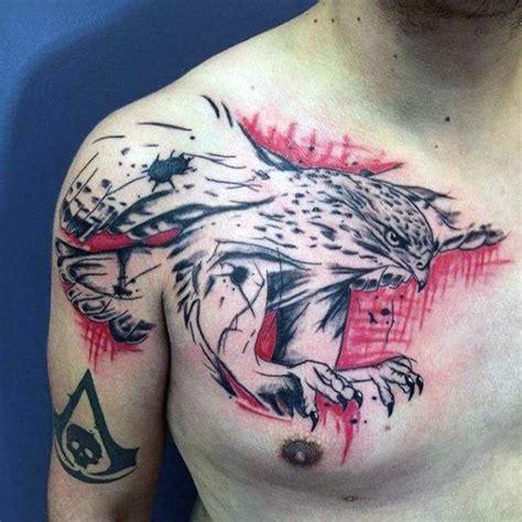 chest tattoo trash polka 100 trash polka tattoos for men masculine design ideas