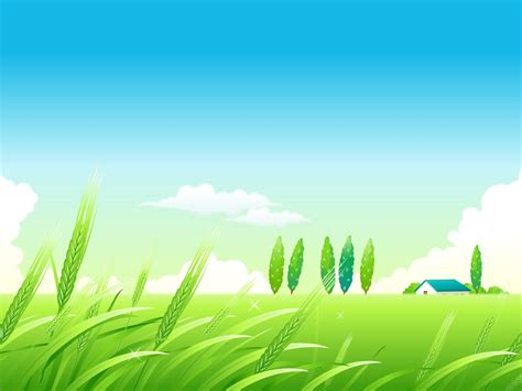 village summer landscape ppt backgrounds 1024x768
