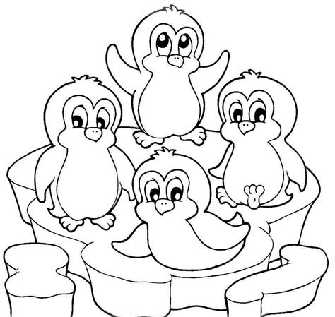 coloring pages christmas penguins cute penguin coloring pages coloring home