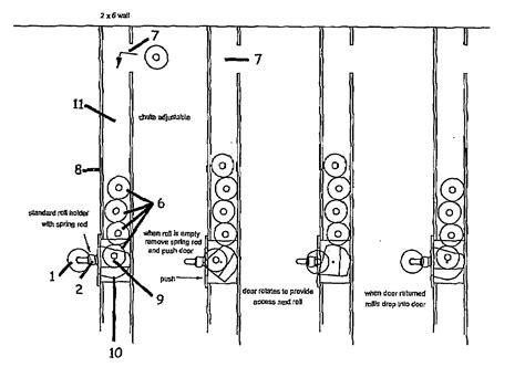 dispense patente patent us20080237256 self loading toilet paper holder