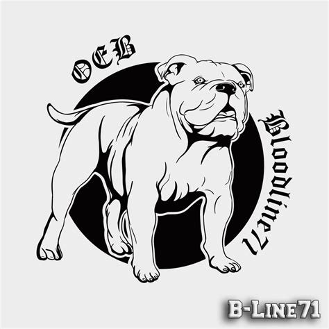 Aufkleber Englische Bulldogge by Old English Bulldog Aufkleber Quot Line71 Quot B Line71