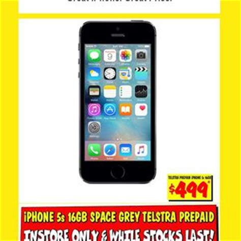 iphone 5s 16gb space grey 499 on telstra prepaid jb hi fi ozbargain