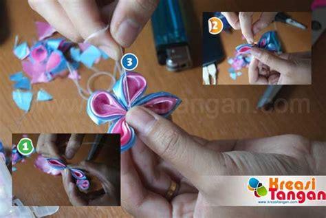 Bros Kanzashi B tutorial membuat bros kanzashi sederhana diy craft