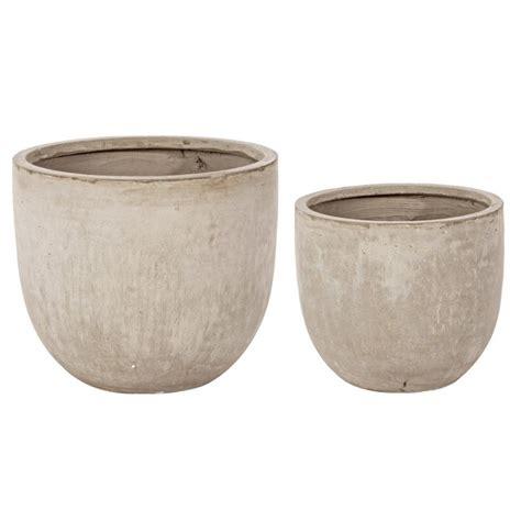 vasi cemento set 2 vasi cemento bassi sabbia mondobrico giardino