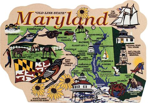 State Of Md Search State Map Maryland The Cat S Meow