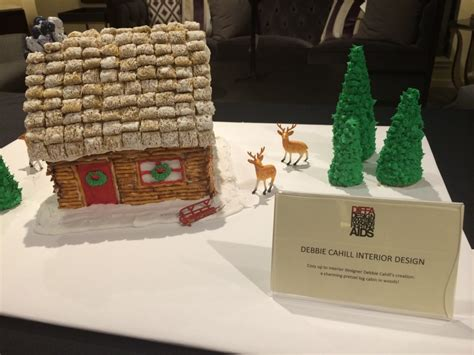 log cabin gingerbread house designs masins hosts event to raise awareness for diffa porch advice