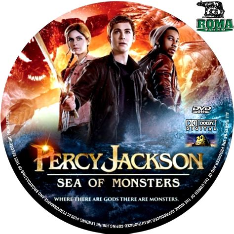 The Sea Of Monsters Cover 8 Th Anniversary Percy J Oleh Rick R covers box sk percy jackson sea of monsters 2013 high quality dvd blueray