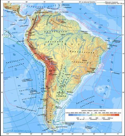 america map landforms map of south america landforms