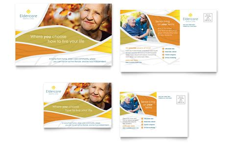 Assisted Living Postcard Template Word Publisher Living Flyer Template