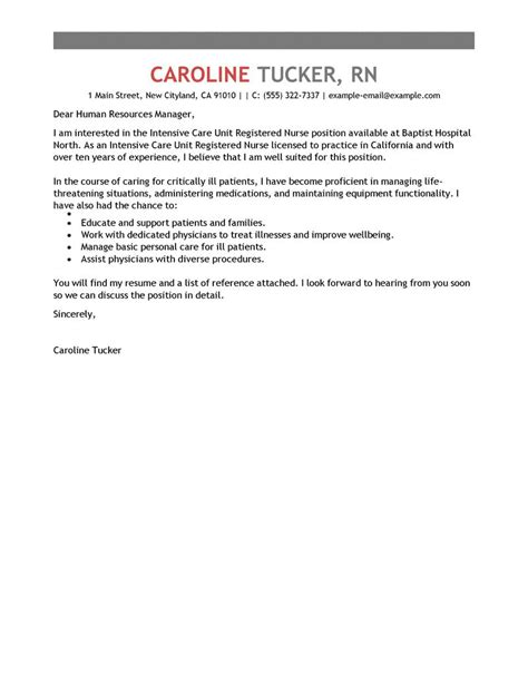 critical care cover letter best intensive care unit registered cover letter