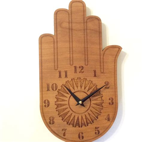 wood clock buddha s hand wall clock wood wall clock wood clock