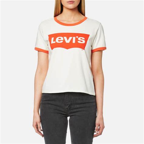 Tshirt Anak Levis Oranye levi s s orange tab ringer graphic surf t shirt marshmellow free uk delivery 163 50