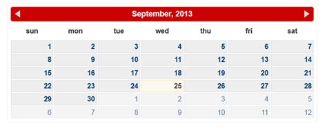 calendar design html5 php ajax calendar