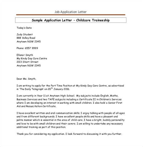 application letter for in pdf application template 19 exles in pdf word