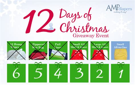 12 Days Of Christmas Sweepstakes - day 6 amp diapers 12 days of christmas giveaway amp diapers
