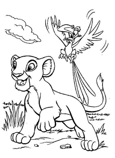 lion king simba  zazu coloring page birthday