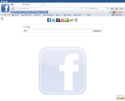 mozilla themes facebook waterfox themes for users who love fast browsers brand