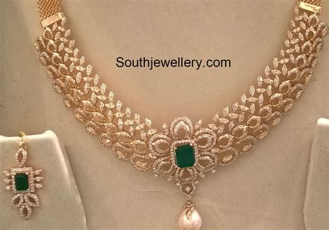 Diamond Necklace Set weight and price latest jewelry designs   Jewellery Designs