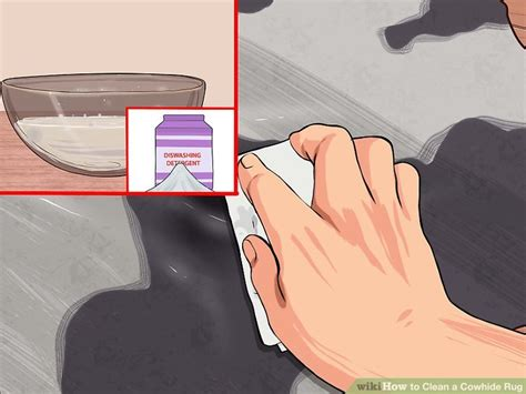 Cleaning A Cowhide Rug 3 Ways To Clean A Cowhide Rug Wikihow
