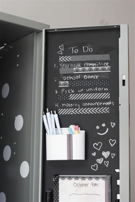 diy chalkboard for locker 22 diy locker decorating ideas diy locker lockers and