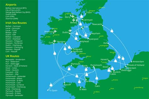 map uk ferry routes ferries to northern ireland uk europe routes