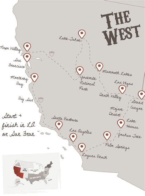 best road trip map usa 1000 ideas about west coast road trip on west