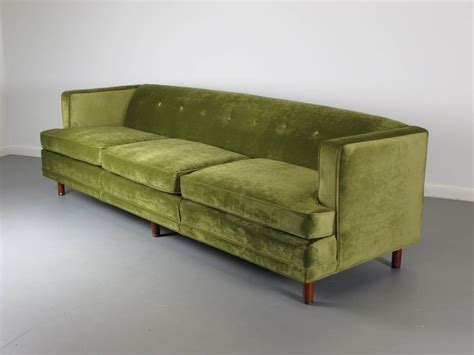 1960s Style Sofa by Striking Velvet Tuxedo Sofa In The Style Of Edward Wormley