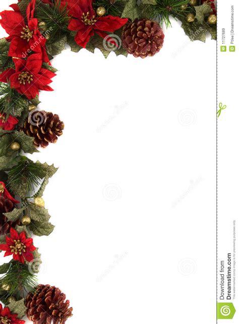 border decorations poinsettia and decoration border stock image