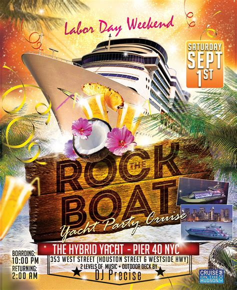 house music boat party nyc summer luau yacht party dance cruise nyc labor day weekend nyc