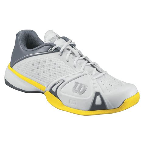 wilson pro hc mens tennis shoes white grey gold