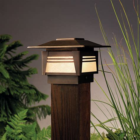 Asian Outdoor Lighting Kichler 15071 Zen Garden 1 Light Outdoor Post L Asian Post Lights By 1800lighting