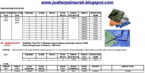 Harga Terpal Kolam 2016 jual terpal murah daftar harga kolam terpal a12