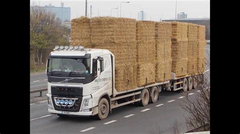 trucks lorry wagon rig  haystraw load youtube