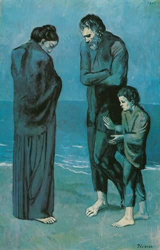 picasso paintings during period pablo picasso the tragedy 1903 blue period stretched
