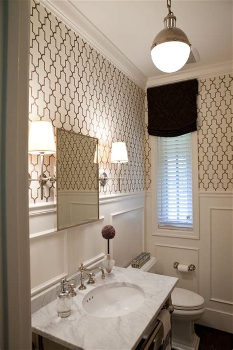 powder rooms with wallpaper powder room traditional powder room baltimore by