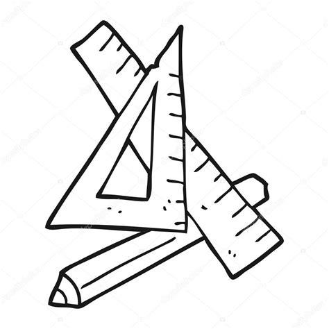 imagenes matematicas blanco y negro 黑色和白色卡通铅笔和尺子 图库矢量图像 169 lineartestpilot 101457504