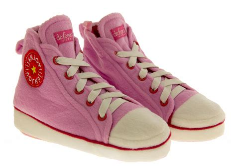 size 9 slipper boots pink hi tops novelty slippers comfy trainers ankle