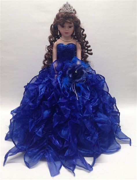 black quinceanera doll new royal blue 20 inch 15 anos quinceanera ruffle
