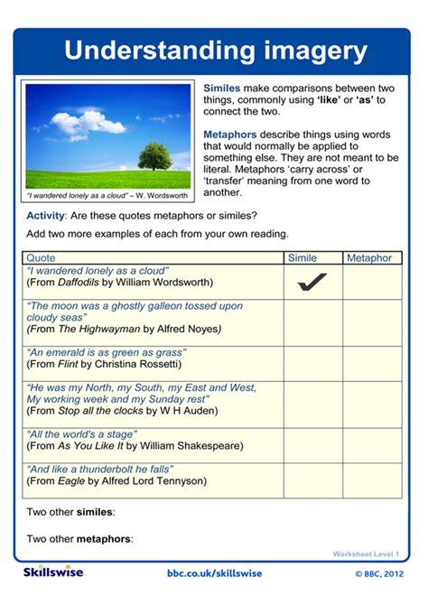 Poetry Scanning Worksheet
