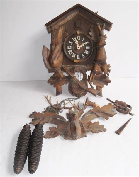 clock made of clocks made in germany cuckoo clock