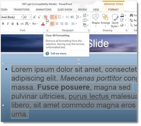 format ppt adalah cara hapus semua format teks dari dokumen terpilih di word