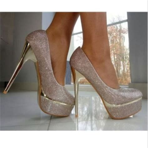 shoes silver silver shoes pumps prom shoes high heels