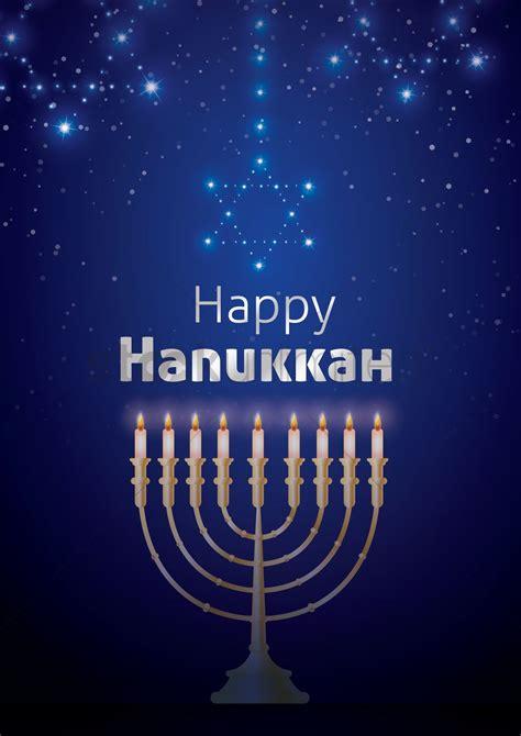 Happy Hanukkah by Happy Hanukkah Poster Design Vector Image 1964382