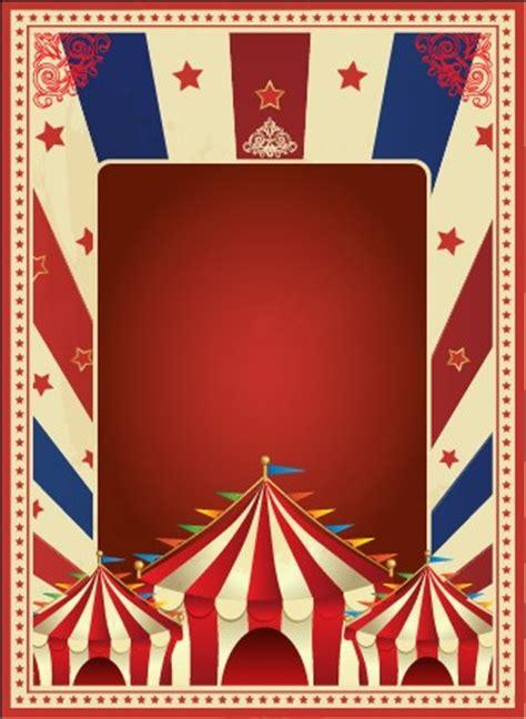 vintage style circus poster design vector  vector