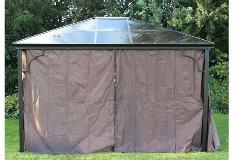 Small Garden Gazebo With Sides Four Seasons Gazebo With Sides 3m X 3 6m Absolute Home